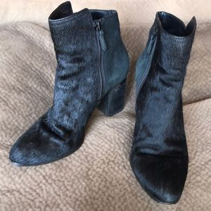 Cole Haan Zandra calf hair suede bootie ankle pony